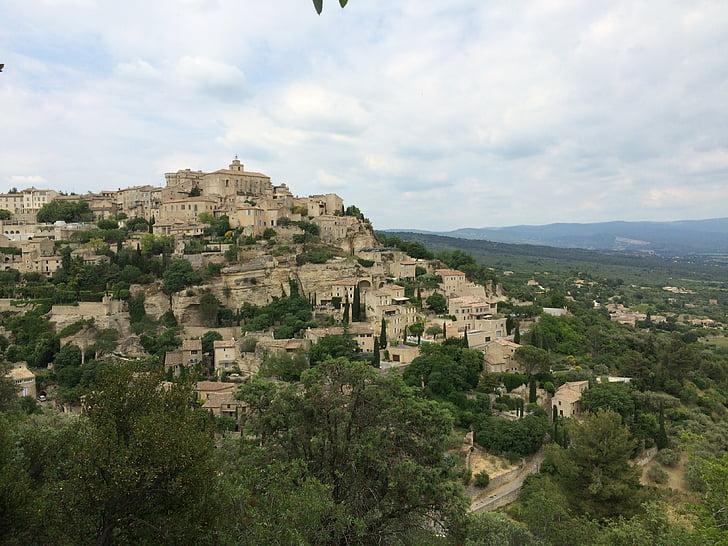 village, south france, french village, provence, gordes