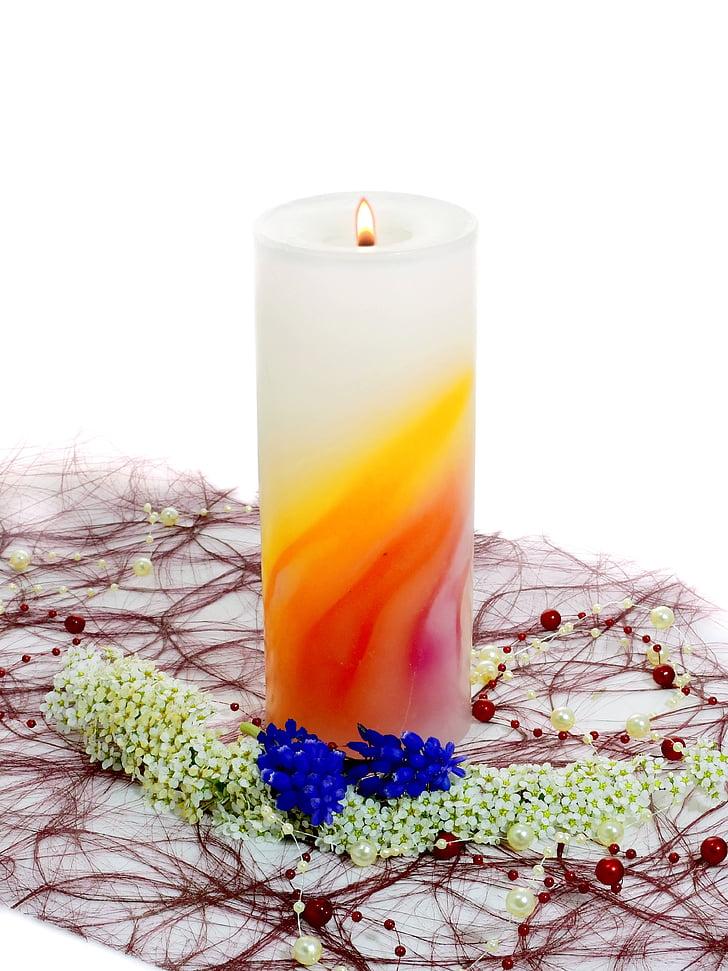 Blume, Deko, Dekoration, Anlage, Kerze, Wellness, Massage