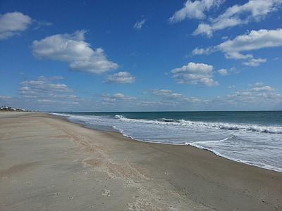 Beach, óceán, homok, Shore, tengerpart, víz, utazás