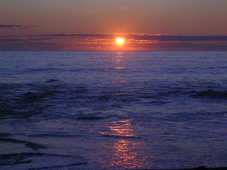 Αυγή, Ανατολή ηλίου, Ανατολή ηλίου τοπίο, νερό, εξωτερική, ηλιακό φως, στη θάλασσα