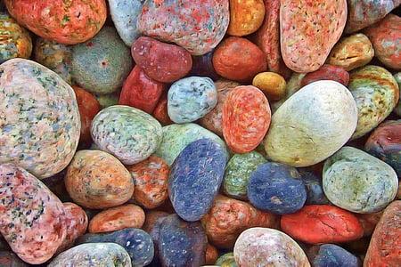 pedres, roques, còdols, tranquil·la, Zen, equilibri, natural