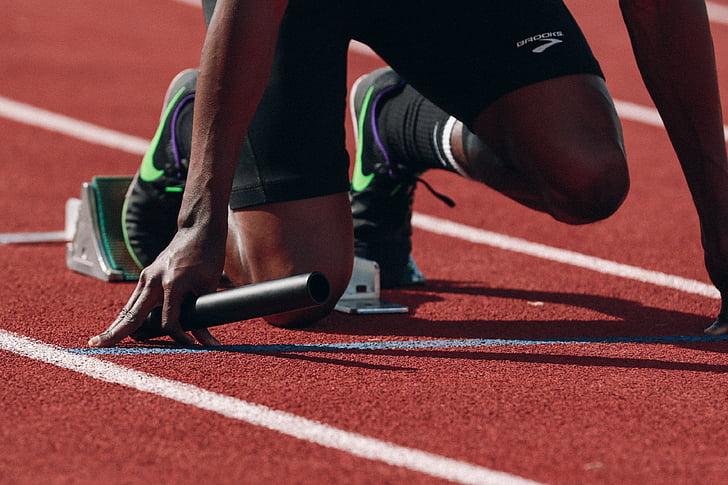Atleta, Color, color, hombre, persona, pista de carreras, relé de