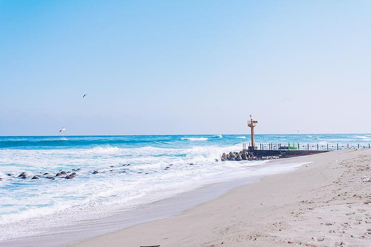 Sea, Gangneung, talven, talvi