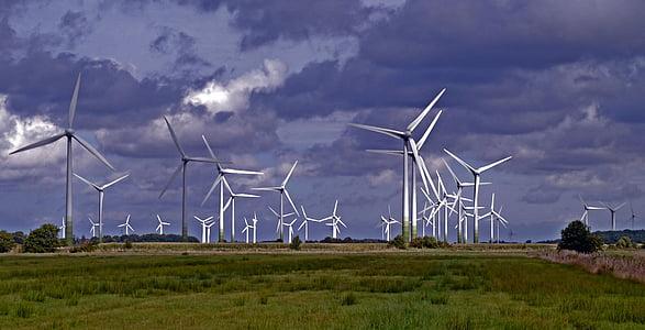Parc del vent, plantes d'energia eòlica, windräder, rotor, energia eòlica, generació d'energia, energia eòlica