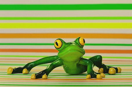 жаба, Смешно, фигура, Сладък, животните, забавно, Грийн