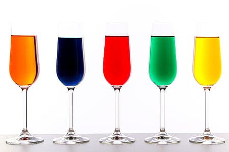 occhiali, Colore, liquido, colorato, natura morta, vetro, bere