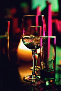 Tilt, SHIFT, foto, šampanja, klaas, pruun, likööri