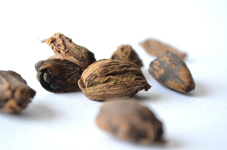 muškátový oriešok, korenie, semená, orechy, jedlo, zložka, aromatické