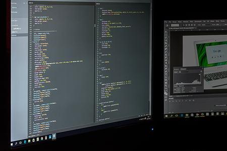 codes, computers, data, photoshop, programming, screen