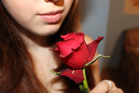Tüdruk, tõusis, Armastus, detail