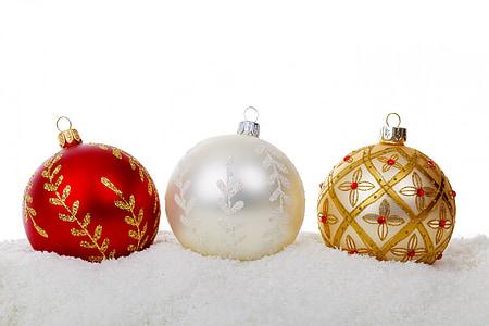 sfera di Natale, Bagattelle, celebrazione, Natale, decorazione, vetro, Vacanze