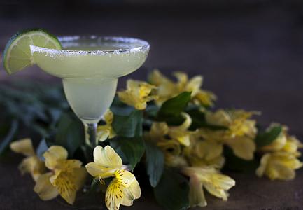 Margarida, beguda, còctel, tropical, l'alcohol, calç, guarnició