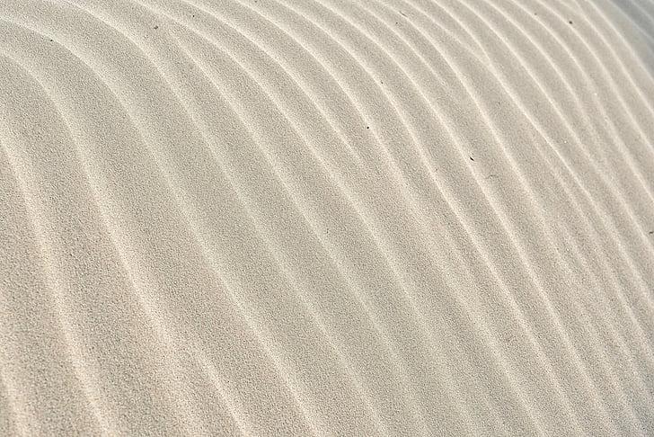 pesek, vzorec, val, tekstura, pesek ozadje, bela, peščene teksture