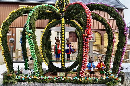 부활절 잘, hinterhermsdorf, 색 슨 스위스, 부활절, 사용자 지정, 장식, 부활절 토끼