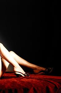 Frau, Beine, rot, sinnliche, Körper, Sinnlichkeit, Schuh