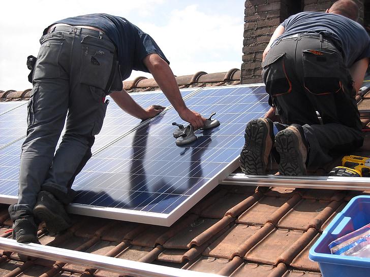 Solárne panely, umiestnenie, Zelená energia, zelenej energie, strešná krytina, odolné, elektrickej energie