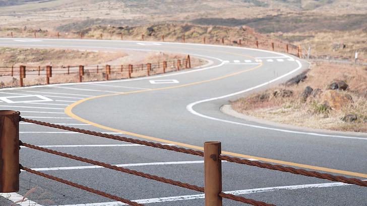 carretera, liquidació, Japó, desert, asfalt, l'autopista, transport