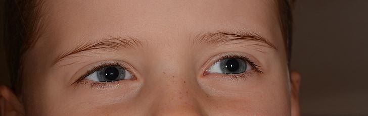 дитина, Дівчина, очі, обличчя