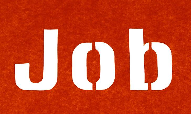 job, text, contour, outlines, silhouette