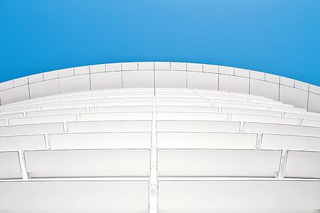 arquitectura, edifici, infraestructura, blau, cel, moderna, indústria de la construcció