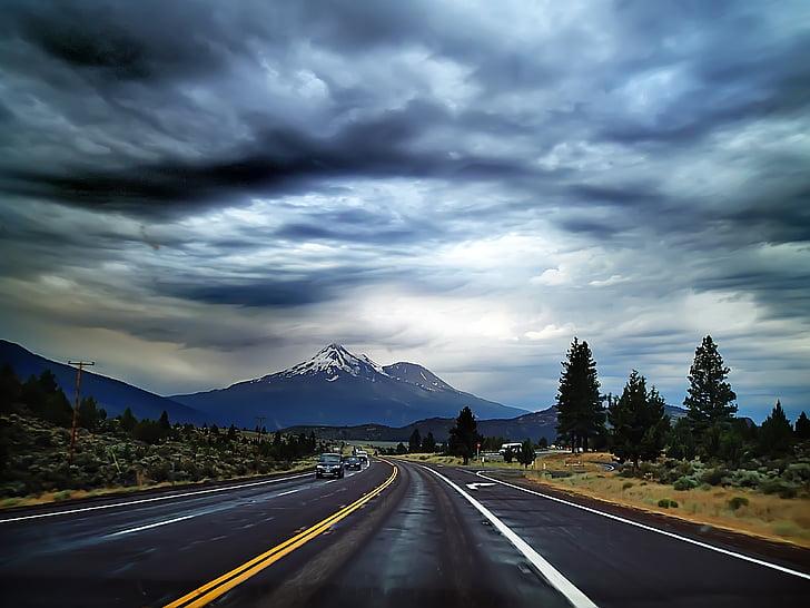 chuyến đi đường, đi du lịch, chuyến đi, đường, lái xe, đường cao tốc, bầu trời