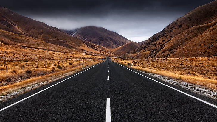 Street, đường, vô cực, thẳng, vô tận, quan điểm, nhựa đường