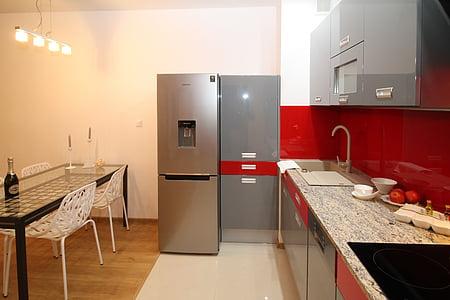 virtuvė, virtuvėlė, Apartamentai, kambarys, namas, gyvenamųjų namų interjeras, interjero dizainas