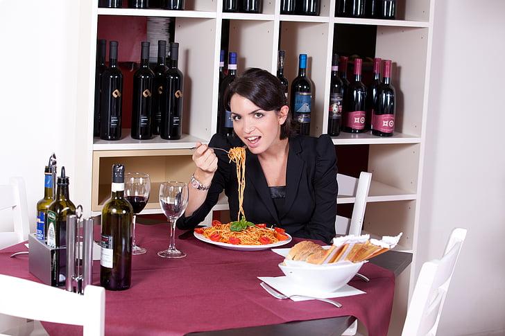 Restaurant, fam, Espaguetis, pastes, bellesa, gust, aliments