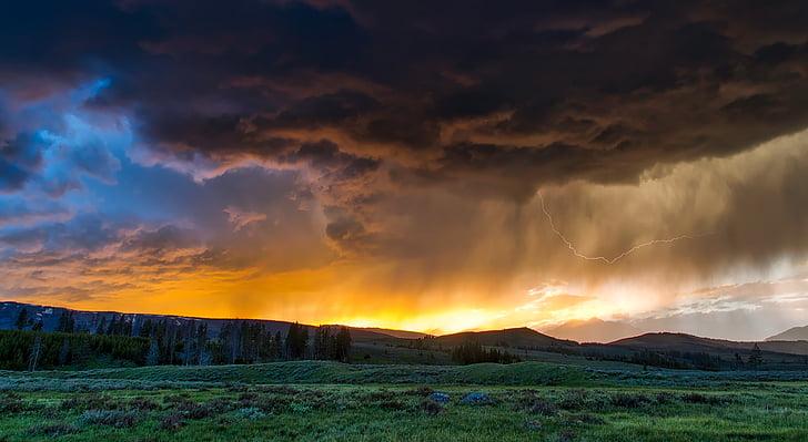 Yellowstone, Parc Nacional, Wyoming, paisatge, escèniques, muntanyes, desert