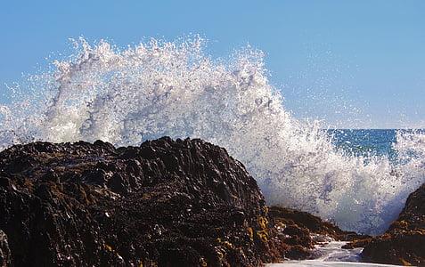 navegar per, esprai, Mar, oceà, Roca, Costa, escuma
