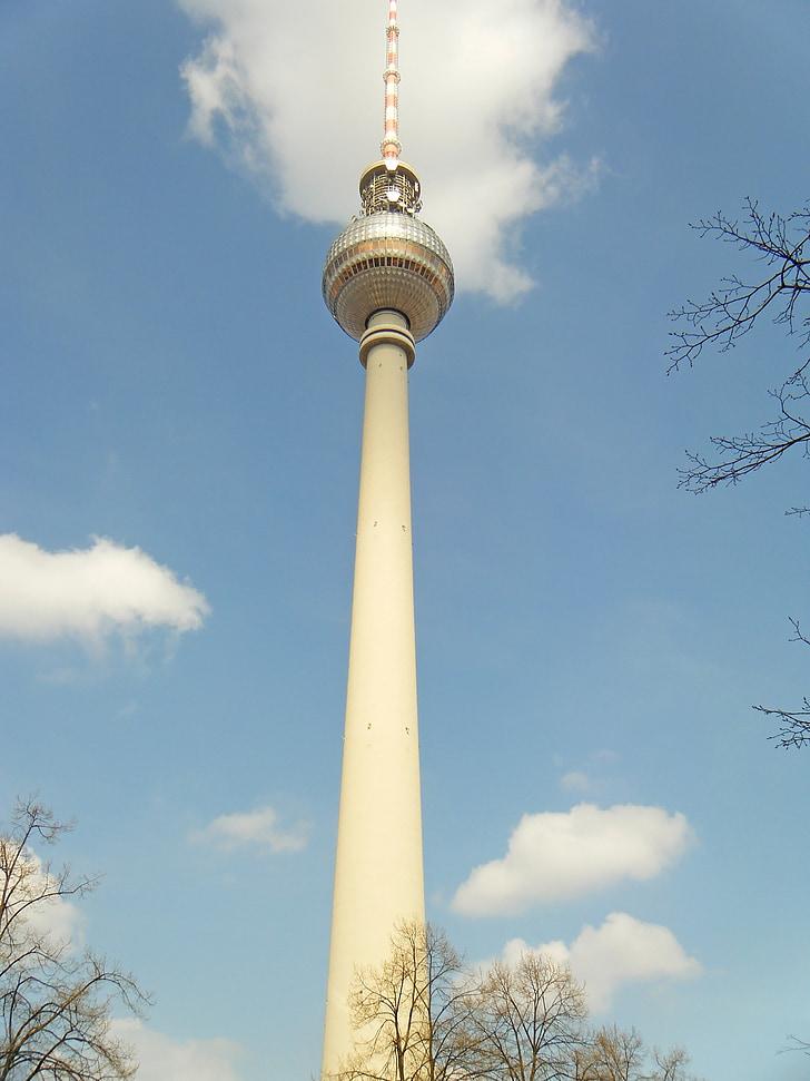 tv 타워, 베를린, 독일, 투어, 관광, 텔레비전 및 라디오, 라디오