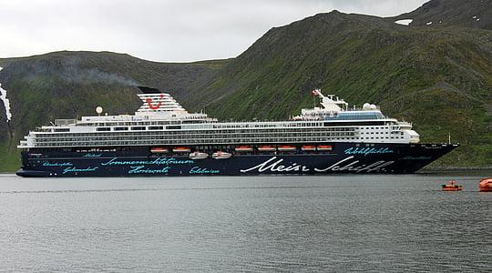kryssningsfartyg, mitt skepp, kryssning, TUI flotta, hamn, Holiday, vatten
