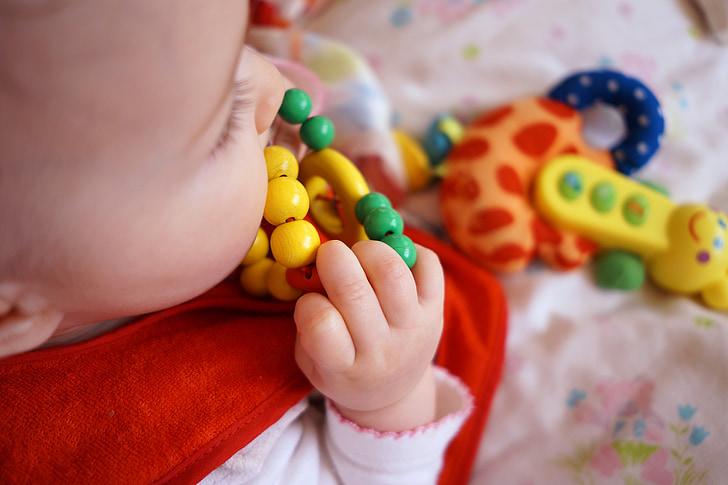 bērnu, roka, bērnu, zīdainim, piemīlīgs, mazs, Kaukāza tautības