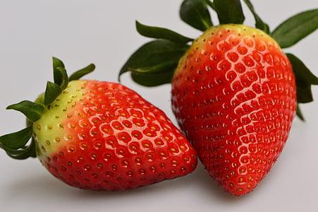 maasikad, puu, Sulgege, puuviljad, punane, Armas, toidu
