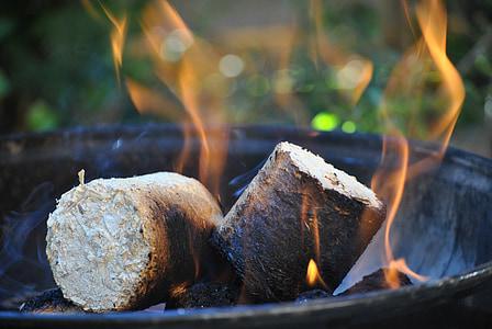 foc, fusta, cremar, calor, brases, llar de foc, foc de fusta