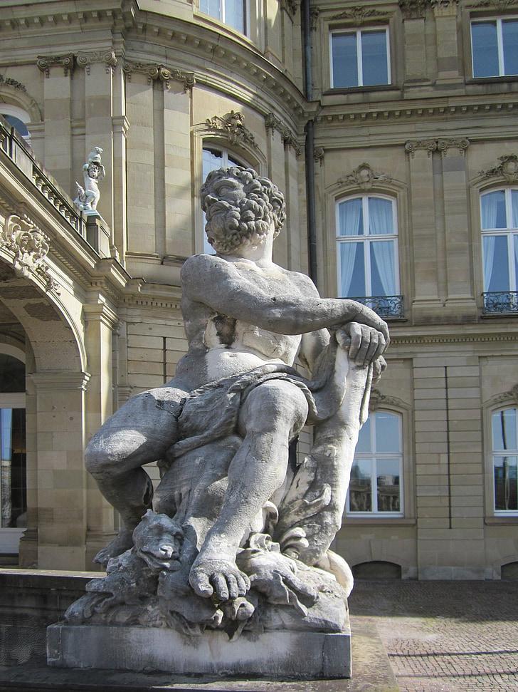 hercules, stuttgart, schlossplatz, heracles, statue, sculpture, greek
