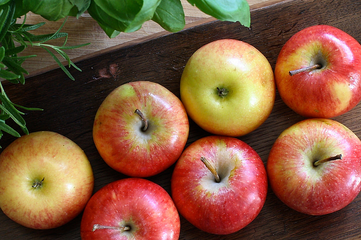 Apple, rood, hout, fruit, gezonde, groen, dieet