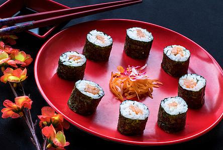 Sushi, cibo giapponese, Giapponese, combinato, cibo, Oriental, gastronomia