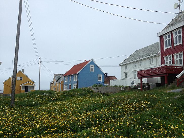 Grip, Noruega, casas antiguas, Isla, Casa