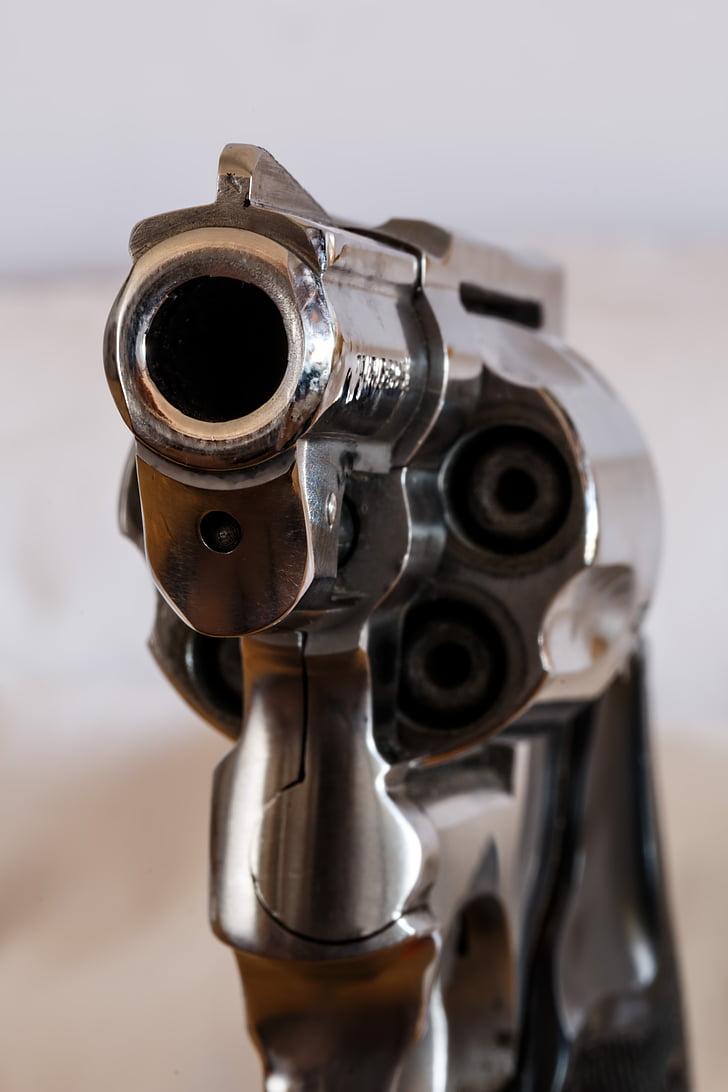 firearm, handgun, revolver, gun, weapon, danger, violence