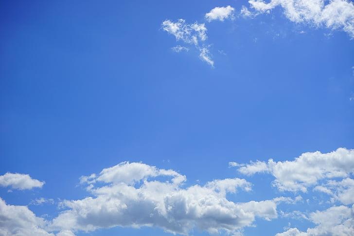 Summer clouds, bầu trời, đám mây, trắng, màu xanh, ngày hè