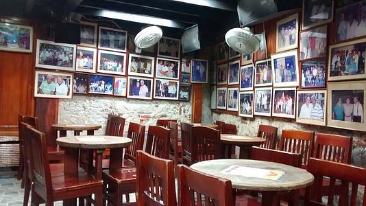 restaurant, pub, bar, retro, cartagena, colombia, table
