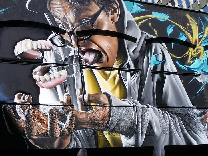 arte, Graffiti, arte público, pintura, creativa, patrón de, aerosol
