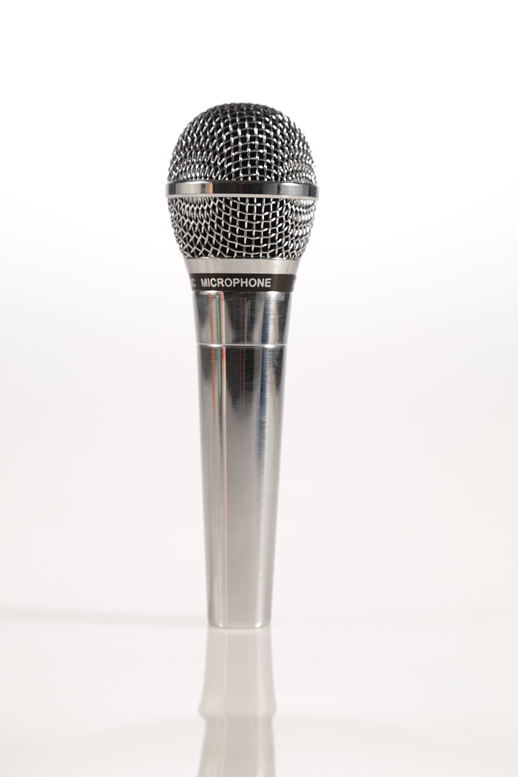 mikrofón, MIC, striebro, hovoriť, komédia, stand-up, reči