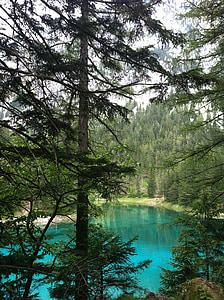zelené jazero, vody, jazero, Zelená, Príroda, rybník, zelená voda