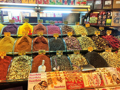 Istanbul, Turquia, mercat de les espècies, colors, Agrobotiga, espècies, aliments locals