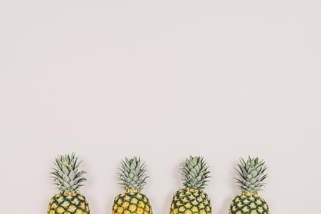 Art, color, decoració, aliments, quatre, fruita, verd