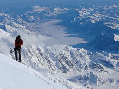 mountain climber, summit, top, success, teamwork, peak, cold
