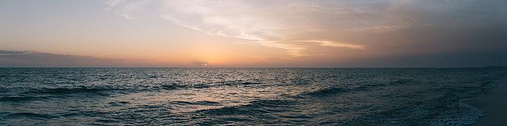 Costa, horitzó, paisatge, oceà, panoràmica, panoràmica, Mar