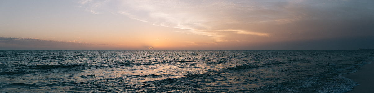coast, horizon, landscape, ocean, panorama, panoramic, sea